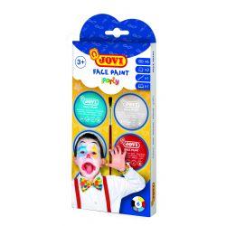 Ansiktskräm Party Kit 6 burkar 8ml med borste och 2 skedar
