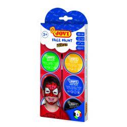 Ansiktskräm Superhjältar 6 burkar 8ml med borste och 2 skedar