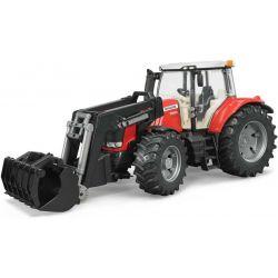 Traktor Massey Ferguson 7624 med frontlastare. Bruder. Skala 1:16
