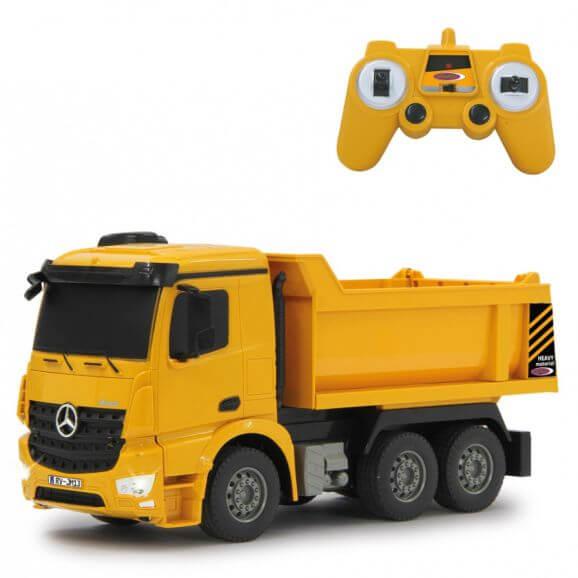 Radiostyrd lastbil Dump Truck Mercedes Arocs 1:26