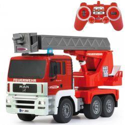 Radiostyrd Brandkårsbil MAN med utfällbar stege 1:20
