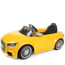 Elbil Audi TTS Roadster. Gul. 12 volt.