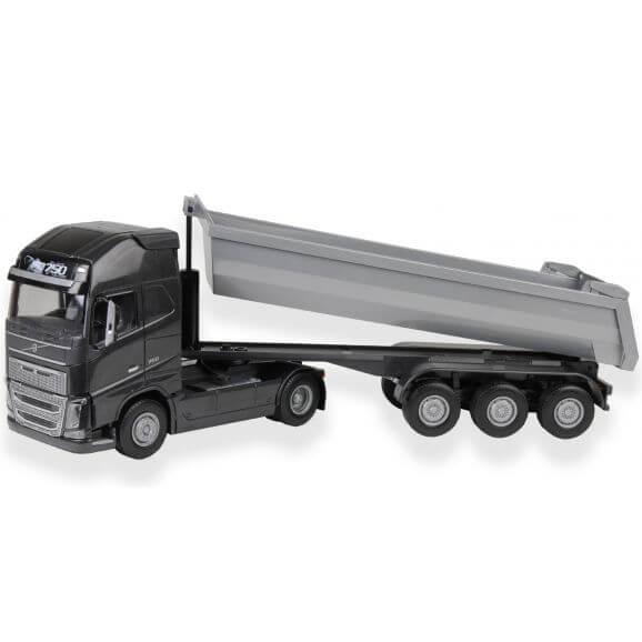 EMEK Volvo lastbil svart med tippbart flak. Emek 1:25