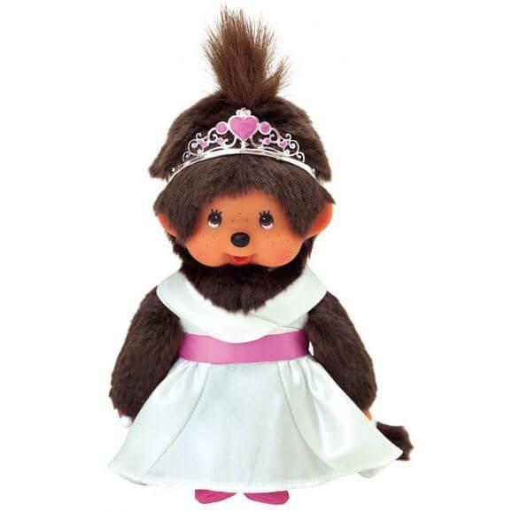 Monchhichi med prinsesskläder 20 cm