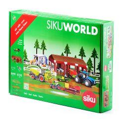 Siku stall och bondgård till Siku traktorer och kor från Schleich