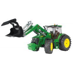 Bruder Traktor John Deere 7930 med frontlastare och skopa 3051, i skala 1:16