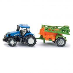 Siku Traktor Blister NEW HOLLAND MED GÖDSELSPRIDARE