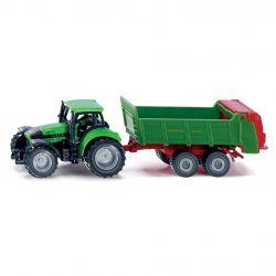 Siku Traktor Blister DEUTZ AGROTRON GÖDSELSPRIDARE