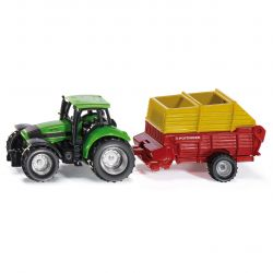 Siku Traktor Blister DEUTZ AGROTRON ENSILAGEVAGN