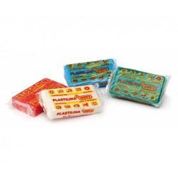 MODELLING CLAY 10 bars of 50g in a Tray - assorted colours