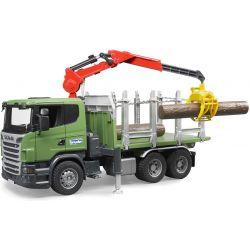 Bruder Scania timmerlastbil med skogskran 03524