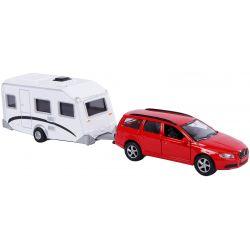 Leksaksbil Volvo 70 och husvagn Kids Globe.