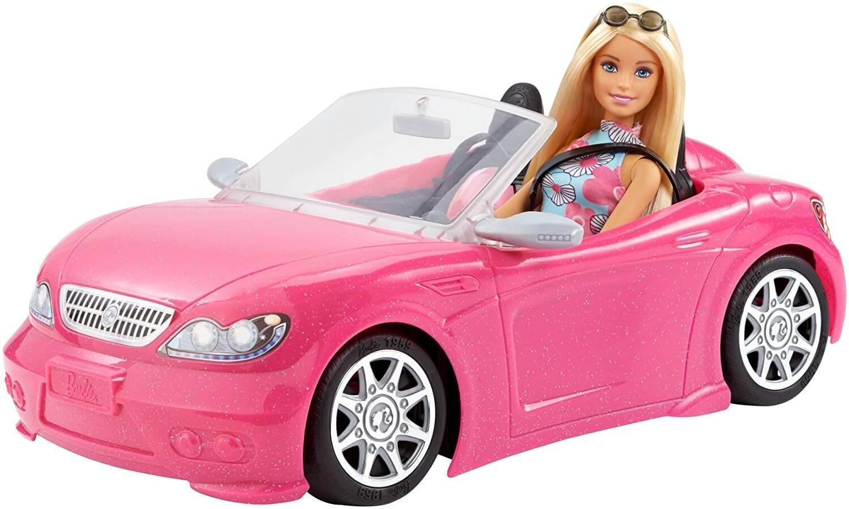 Barbie Bil Glam Pop Cabriolet Mattel med barbiedocka FRP57