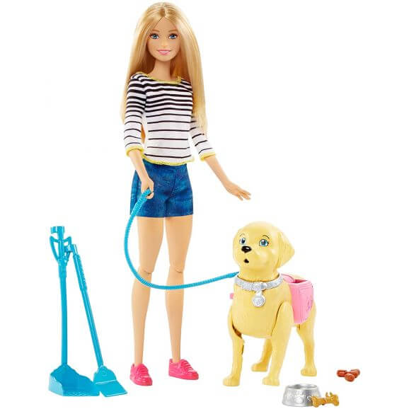 Barbie Walk & Potty Pup med valpträning