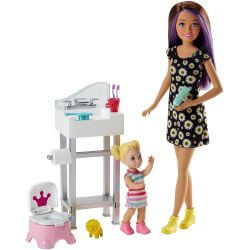 Barbie Babtsitter Playset Barnvakt Potträning Kit