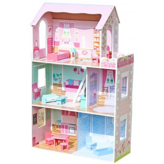 Dockhus Himmel tre våningar Woodi World Toy