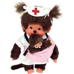 Monchhichi Mother Care Nurse & New Born 20 cm