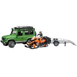 Bruder Jeep Landrover Defender med snöskoter 02594