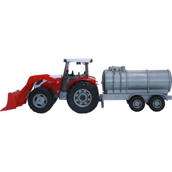 Leksakstraktor till barn med tankvagn Teama