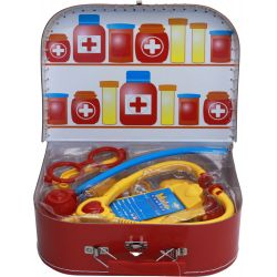 Doktorsväska barn för att leka doktor