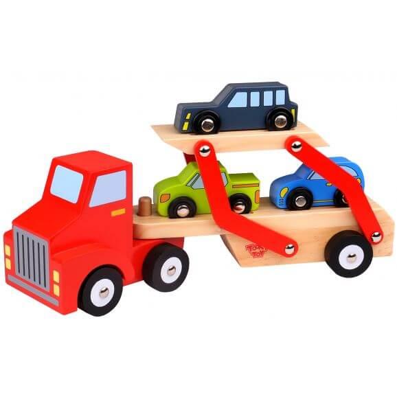 Lastbil leksak biltransport i trä Tooky Toy