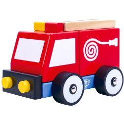 Brandbil leksak i trä Tooky Toy