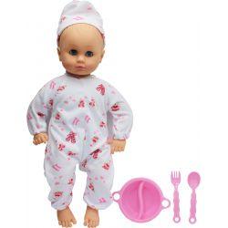 Lovely Baby Docka Baby 32 cm Matskål Rosa