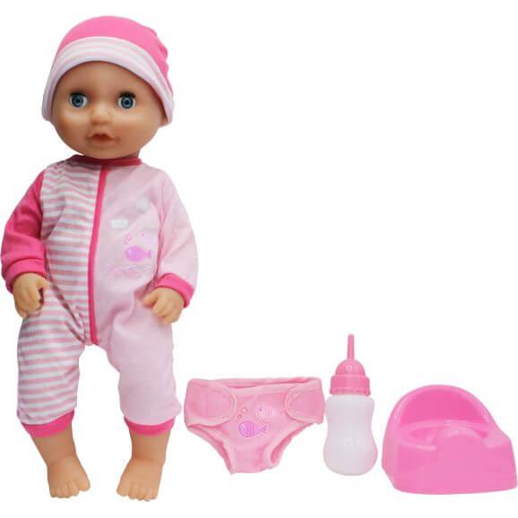 Dolls World Docka Baby Tinkle Rosa 38 cm