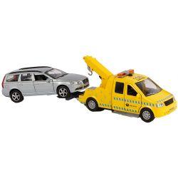 Kids Globe Leksaksbil Bärgare och Volvo V70