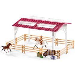 Schleich Ridcenter med ryttare och hästar 42344