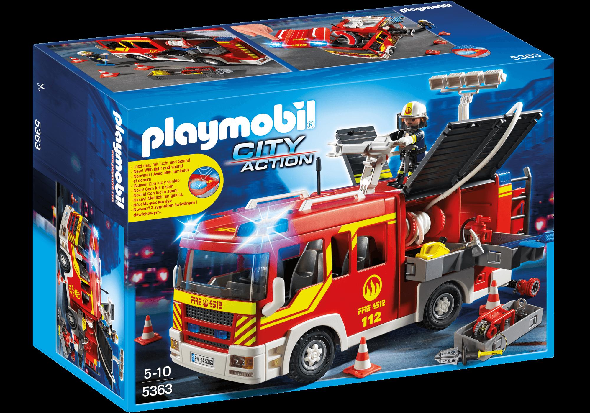 Läs mer om Playmobil Brandbil med ljus och ljud 5363