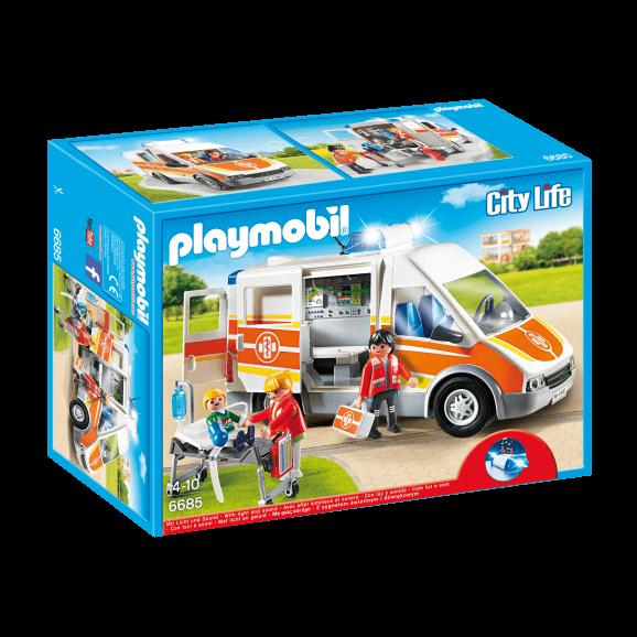 Playmobil Ambulans med Ljus och Ljud 6685