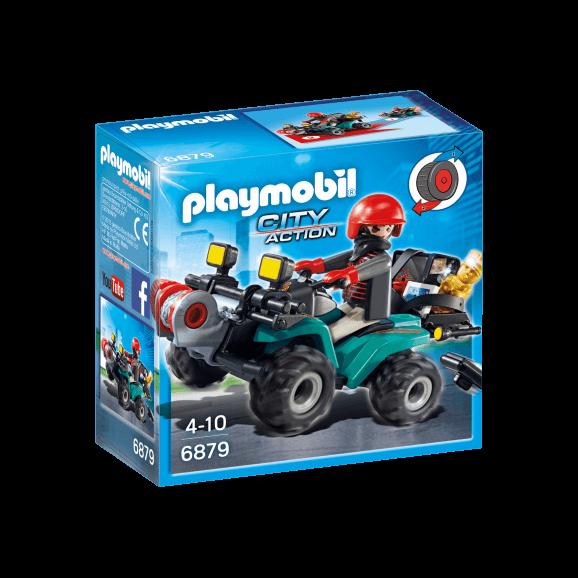 Playmobil Rånare på Fyrhjuling 6879