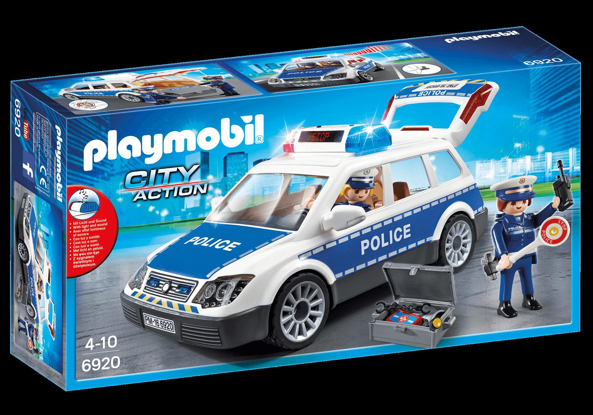 Läs mer om Playmobil Polisbil med Ljud och Ljus 6920