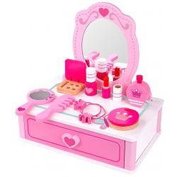 Sminkspegel med tillbehör leksak i trä, Tooky Toy