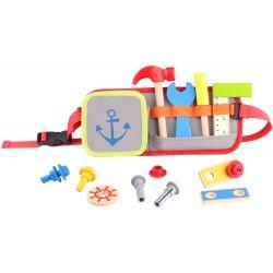 Värktygsbälte, leksak med verktyg i trä, Tooky Toy