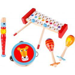 Musiklåda Leksak med maracas, xylofon, tamburin, flöjt Tooky Toy