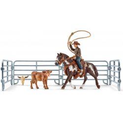 Schleich Team Roping Cowboy med lasso 41418