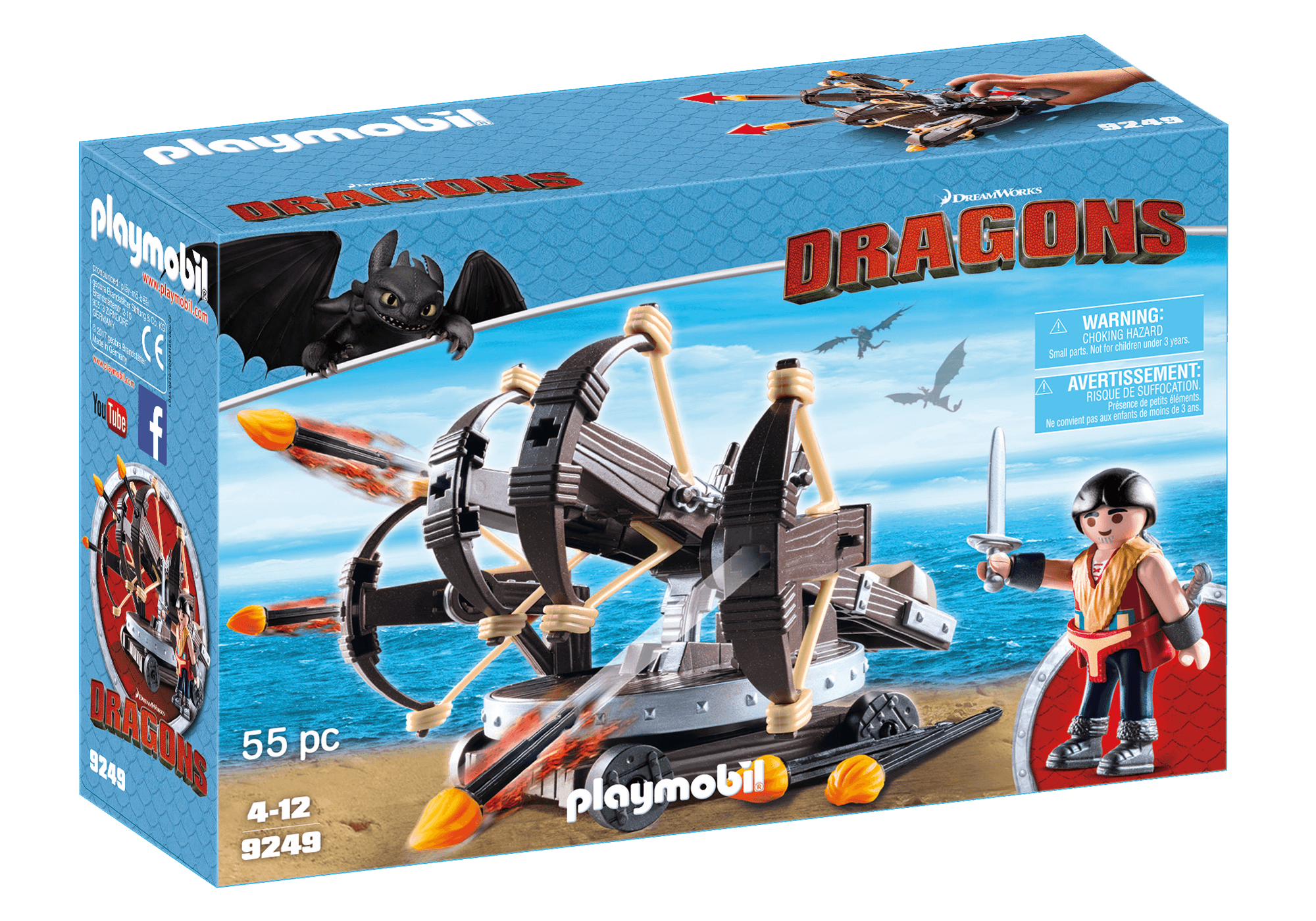 Läs mer om Playmobil Dragons Eret med Ballista och 4 skott 9249