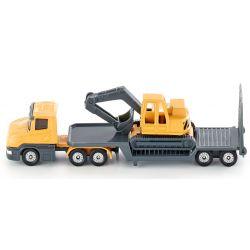 Siku Lastbil med trailer och grävmaskin