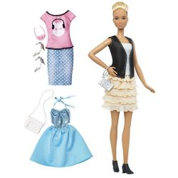 Barbie Fashionistas Leather & Ruffles DTF07