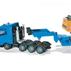 Lastbil transport med trailer Liebherr 1:88