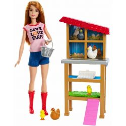 Barbie Hönsfarm och Docka FXP15