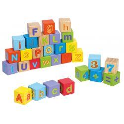 Jouéco® - Alphabet blocks 30 pieces