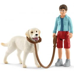 Schleich Promenad med labrador retriever 42478