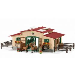 Schleich Stall med hästar och tillbehör 42195