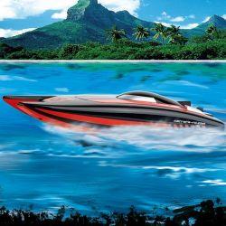Carrera radiostyrd båt Catamaran