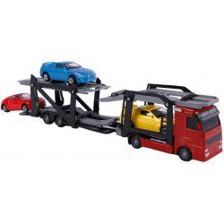 Kids Globe leksakslastbil med tre bilar
