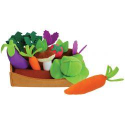 Grönsaksset i textil 16 delar - Play Fun