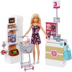 Barbie Supermarket och Docka FRP01